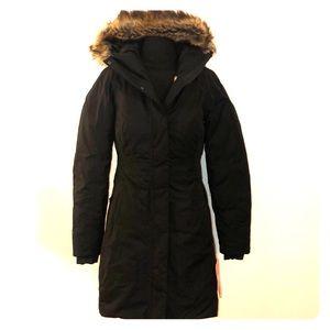 North Face Arctic Parka II Faux Fur Hood Jacket XS